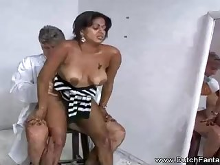 Indian old lady is getting humped in front of the camera and warm every bachelor 2nd of it