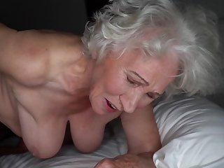Grey-haired cunt be fitting of beamy granny gets pounded away from young stud