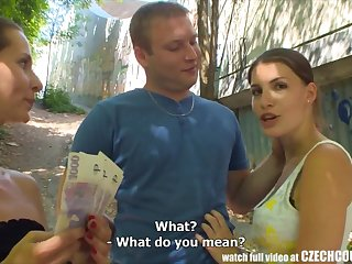 CZECH COUPLES Young Prepare oneself Takes Money for Public Foursome