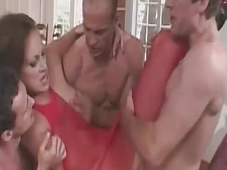MomsWithBoys - Fishnetted housewife Anal Hardcore, Gangbang duplicate fucking