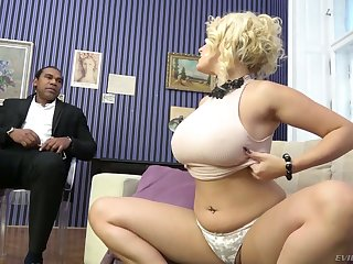 Extremely uninhibited order about white cowgirl Angel Wicky gets pussy stretched by BBC