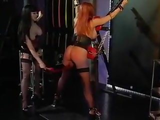 Big tits redhead together with her thistledown into a BDSM session