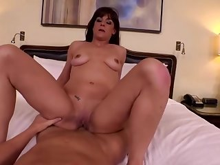 Delightful experienced female in private non-professional carnal knowledge tape