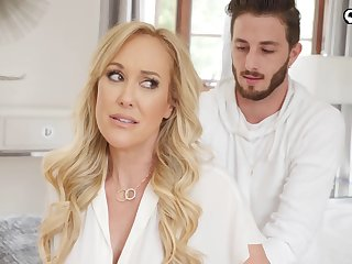Choke-full MILF stepmom wants more than just a knead from her stepson