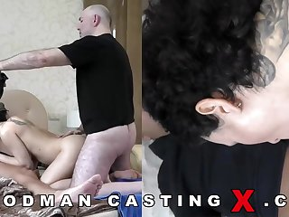Supreme looking, Russian black-haired with huge, inorganic boobies went respecting a porno flick audition respecting have rapture