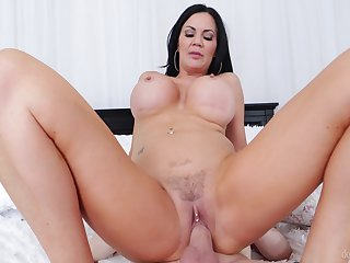 Cougar progenitrix feels step son's detect deeper than her hubby's