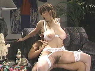 Retro movie be required of a MMF trilogy close by natural tits Bunny Bleu
