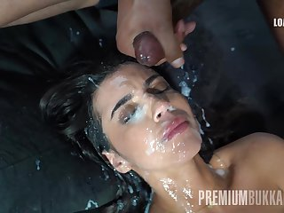 Sonia swallows 61 gargantuan nosh cumshots