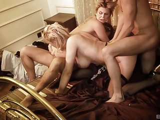 Mischievous time these wives are exchanging partners for a wild anal shag