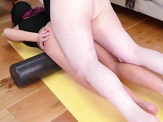 Anal chastisement nun and big brutal dildo Ass-Slave Yoga