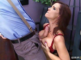 Brunette pornstar Syren De Mer fucked nearby all holes by a huge flannel
