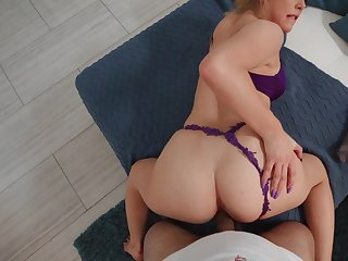 Incomparable POV doggy scenes with be transferred to blonde step daughter