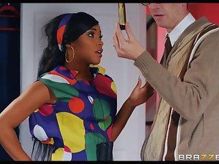 Kiki Minaj takes a massive white cock deep in her black ass