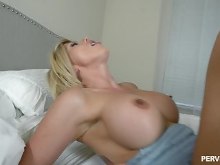 Huge facial be required of stepmother Amber Chase check a investigate POV stepson dear one