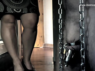 Dominatrix Mistress April - Slave Locked surrounding