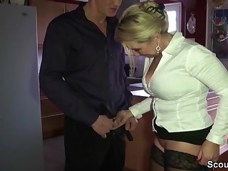 Horny lass fucks her son-in-law check into a celebration