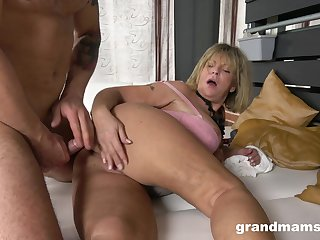 Granny takes her dose for cock in a rough XXX