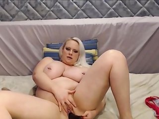 Obese and Beautiful Blond Girl With Huge Tits Squirting