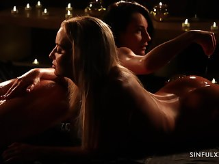 Beautiful candlelight sapphic video cash reserves Victoria Pure