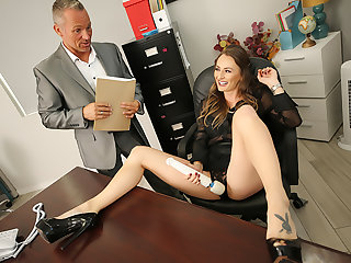 Heavy tits boss Natasha Starr fucks her new employee