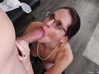 Christine Sapphire throats young inches at the office