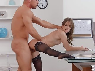 Sex within reach the office with the most addictive uncle of all