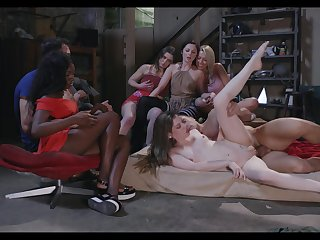 Group sex shows these women coupled with their porn building blocks