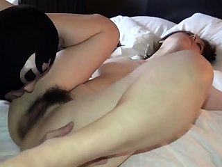 She likes to lick his hairy ass and suck cock