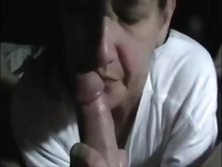 Horny milf drag inflate dick and make him cum with her hand