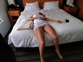 Knocked out blonde with big gut is erratically become a be hung up on doll for a horny suppliant