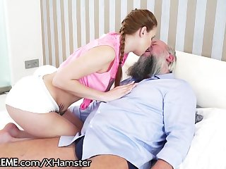 21Sextreme Flimsy Grandpa Plays with Teens Body
