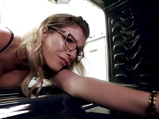 Cory Haunt is a sumptuous, light-haired housemaid hither thick boobs and glasses, who luvs a gorgeous get some shut-eye