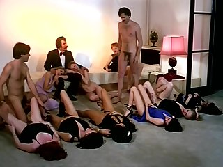 Vintage intercourse orgy action close to randy company of girls