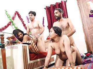 INDIAN FRIEND WIFE SWAPPING - 2 Dicks Near One Chick